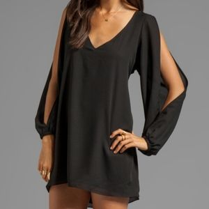 Lovers + Friends Split Bell Sleeve Mini Dress